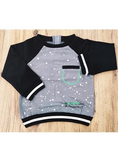 Riccotarz Erkek Bebek Baskılı Cepli Sweatshirt Renkli